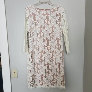 Long sleeve Ivory lace Adrianna Papell dress
